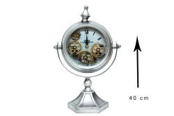 Crownwell - Masaüstü Mat Krom Çarklı Saat (1)