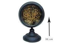 Crownwell - Masaüstü Siyah Çarklı Saat (1)