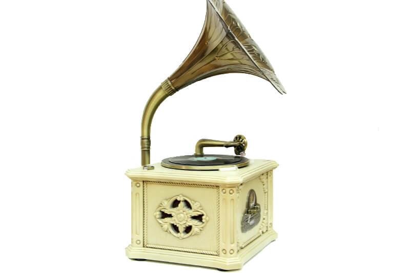 Gramofon Beyaz