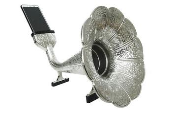 CROWNWELL - Gramofon Hunisi Zamak Parlak Gümüş