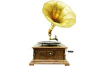 CROWNWELL - Gramofon Kare Full Oymalı 533