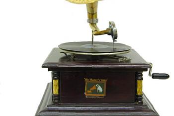 CROWNWELL - Gramofon Kare Köşeleri Bronz İşli 533 (1)