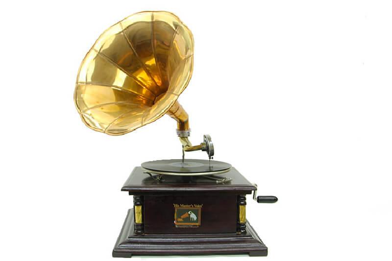 Gramofon Kare Köşeleri Bronz İşli 533