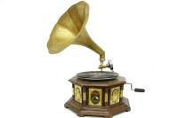 CROWNWELL - Gramofon Sekizgen Bronz Kakma 533