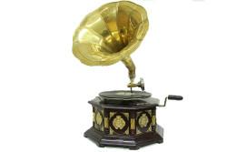 CROWNWELL - Gramofon Sekizgen Bronz Kakma