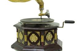 CROWNWELL - Gramofon Sekizgen Bronz Kakma (1)