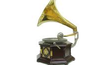 Gramofon Sekizgen Bronz Kakma - Thumbnail