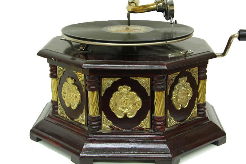 Gramofon Sekizgen Bronz Kakma