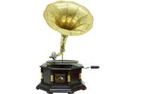 CROWNWELL - Gramofon Sekizgen Köşeleri Bronz İşli 533