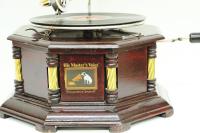 CROWNWELL - Gramofon Sekizgen Köşeleri Bronz İşli 533 (1)