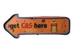 MNK - Işıklı Gas Here Yön Tabelası