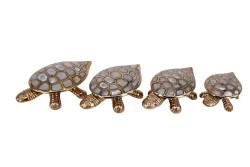 MNK - Kaplumbağa 4'lü Set Sedefli Pirinç
