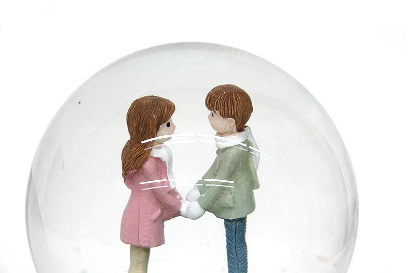 Kar Küresi Sevgili Işıklı