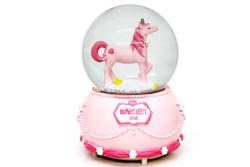 Self Design - Kar Küresi Unicorn Işıklı