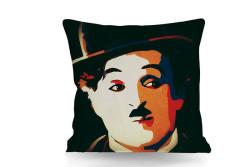 Just me - Kırlent Charlie-Chaplin Temalı Çift Taraflı