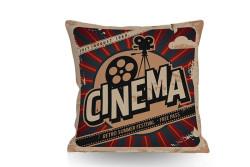 Just me - Kırlent Cinema Temalı Çift Taraflı