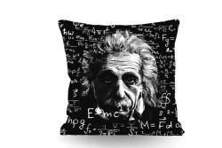 Just me - Kırlent Einstein Temalı Çift Taraflı