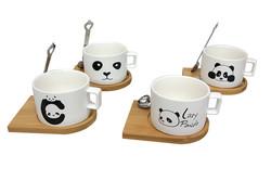 Just me - Kupa Panda Mıknatıslı Kaşıklı (1)
