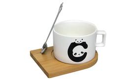 Just me - Kupa Panda Mıknatıslı Kaşıklı