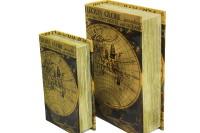 CROWNWELL - Kutu Kitap Harita 2'li Set (1)
