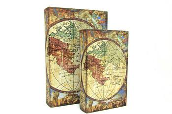 Self Design - Kutu Kitap Harita 2'li Set