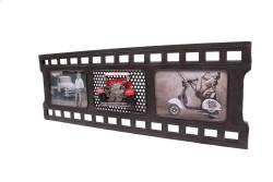 Mnk - Dekoratif Metal Çerçeve Film Şeridi Temalı Üçlü (1)