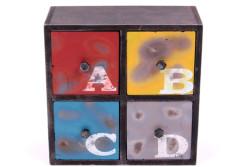 Self Design - Şifonyer Mini 4 Çekmeceli ABCD Temalı
