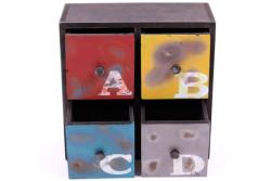 Self Design - Şifonyer Mini 4 Çekmeceli ABCD Temalı (1)