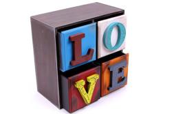 Self Design - Şifonyer Mini 4 Çekmeceli Love Temalı (1)