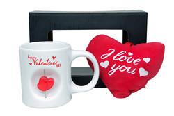 - Stres Kupa Peluş Kalp Valentine's Day