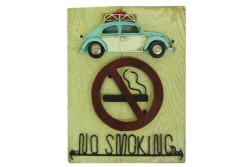 MNK - Tabela No Smoking Nostaljik Araba Figürlü