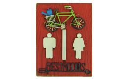 Mnk - Tabela WC Bisiklet Figürlü