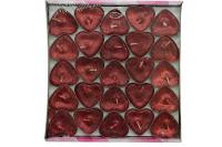 Mystica - Tealight Simli Mum Kalp Şeklinde 50'li Paket