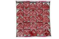 Mystica - Tealight Simli Mum Kalp Şeklinde 50'li Paket (1)