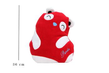Self Design - Yastık Polar Peluş Panda Kırmızı-Beyaz (1)
